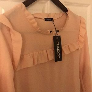 Boohoo Dresses - Pink Ruffle dress